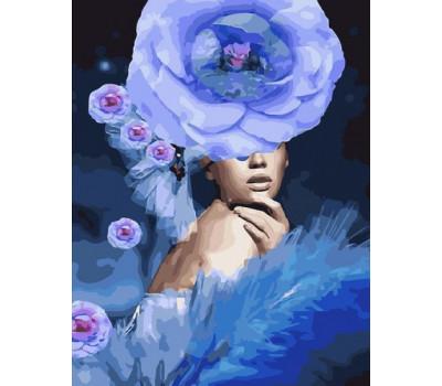 Девушка-цветок - картина по номерам
