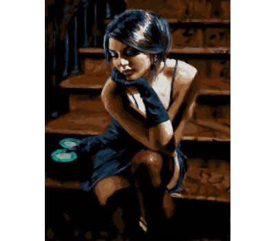 Девушка с зеркальцем - картина по номерам
