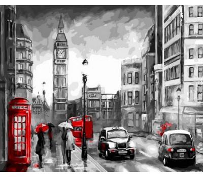 Прогулка по Лондону - картина по номерам