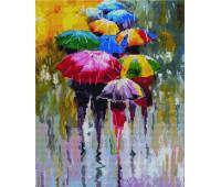 Дождливая погода 40х50 - АЛМАЗНАЯ МОЗАИКА
