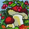 Грибы и ягоды - 20х20 - АЛМАЗНАЯ МОЗАИКА