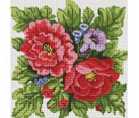 Цветы 30х30 - АЛМАЗНАЯ МОЗАИКА