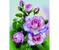 Кустовая роза 40х50 - АЛМАЗНАЯ МОЗАИКА