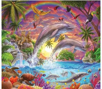Яркий мир дельфинов 40*50